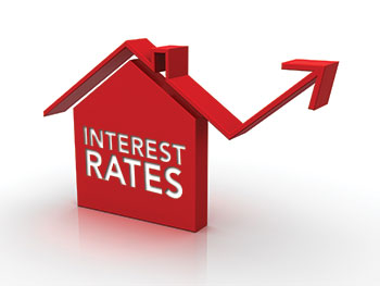 picture of a chart showing increasing interest rates