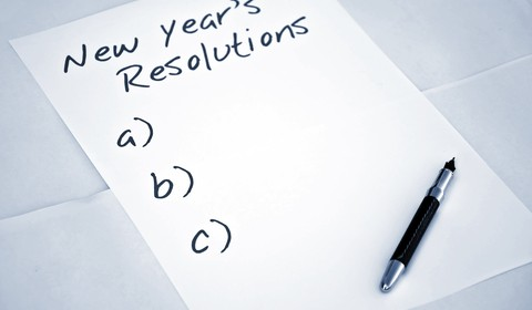 a blank list of New Years resolutions