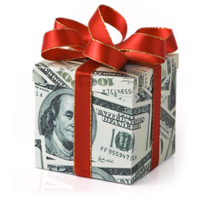giftwrapped money