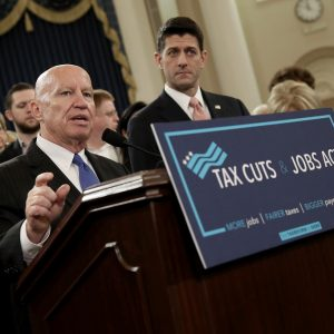 congress holds a press conference to discuss the senate tax reform bill just passed