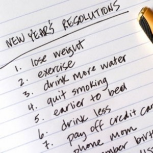 a list of new years resolutions on the first day of the new year