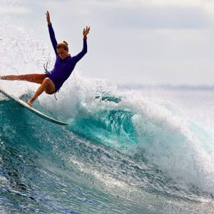 a surfer wiping out on her surfboard depicting the oncoming bond market sell off
