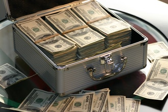 a briefcase full of money